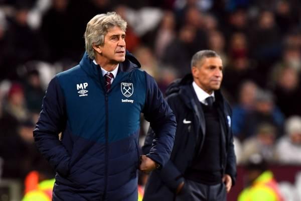 Manuel Pellegrini consiguió cinco victorias y dos derrotas en diciembre con el West Ham / Foto: Getty Images