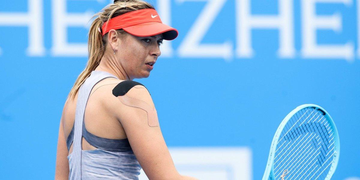 Sharapova se retira del Abierto de Shenzhen por lesión
