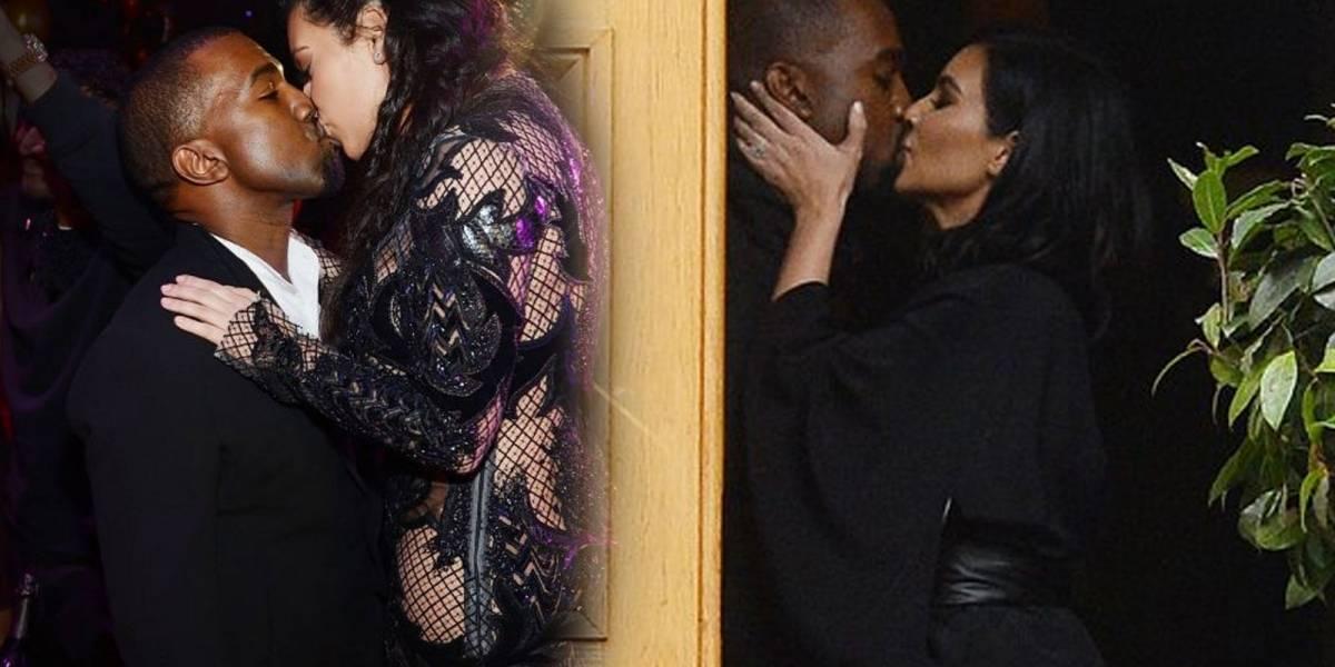 Kim Kardashian y Kanye West se muestran subidos de tono en un balcón