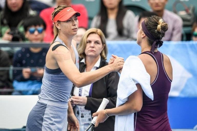 Maria Sharapova y Aryna Sabalenka