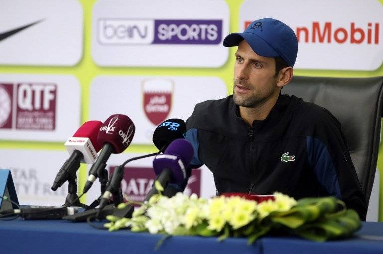 Novak Djokovic en Doha