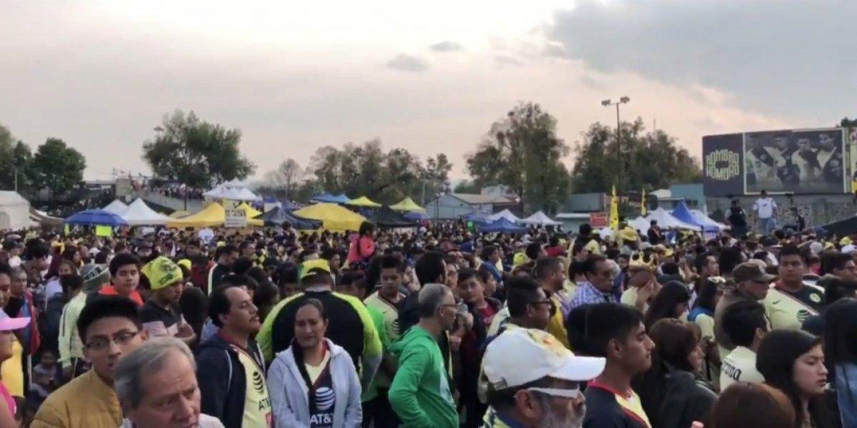 VIDEO: Afición de América invade el Estadio Azteca para fiesta