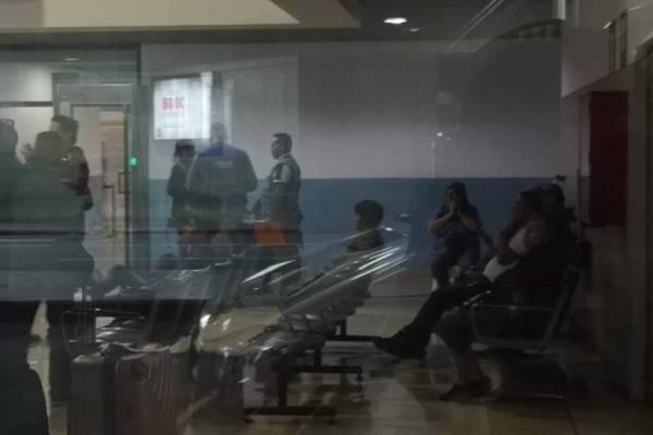 Investigador Yilen Osorio en el aeropuerto