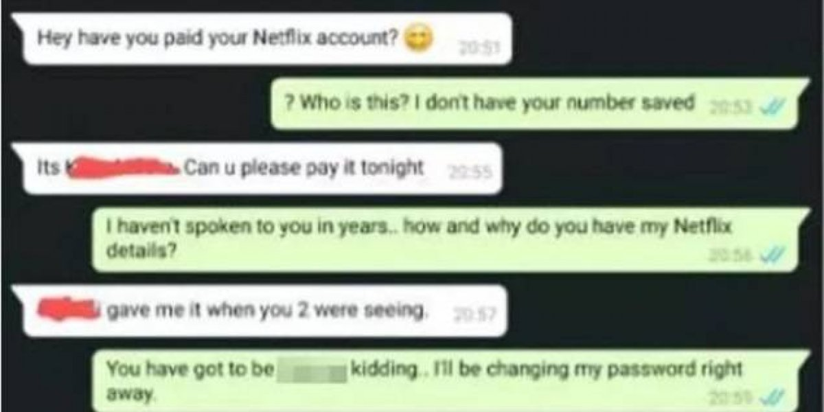 Mujer le reclamó a exnovio por dejarse cortar Netflix y dejarla sin poder ver series
