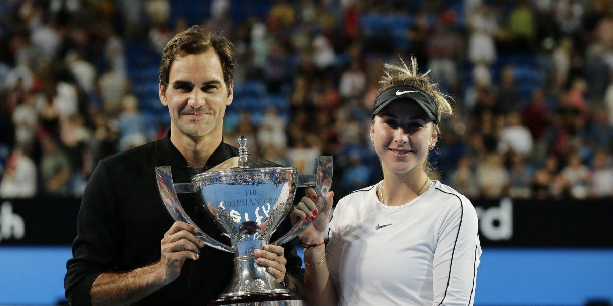 Roger Federer y Belida Bencic dan campeonato a Suiza en la Copa Hopman