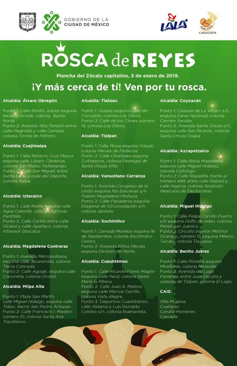 Rosca de Reyes en la Ciudad de México