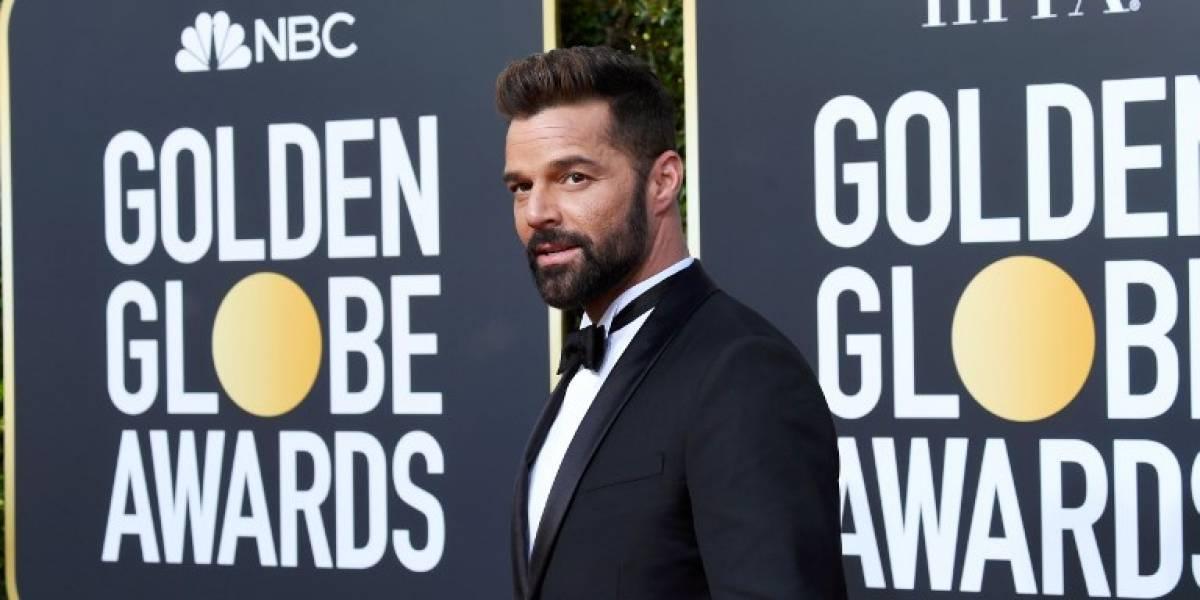 FOTOS: Ricky Martin cautiva con un clásico esmoquin en la alfombra roja de los Globos de Oro