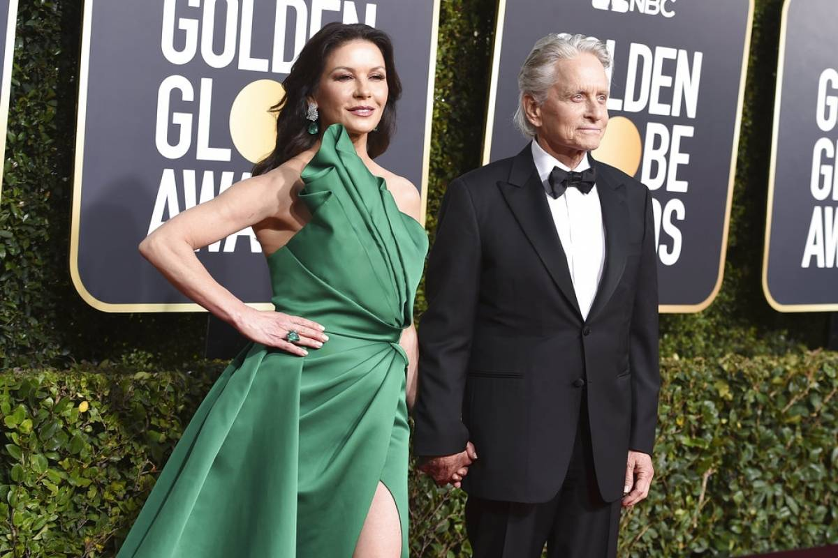 Catherine Zeta Jones y Michael Douglas Foto: AP