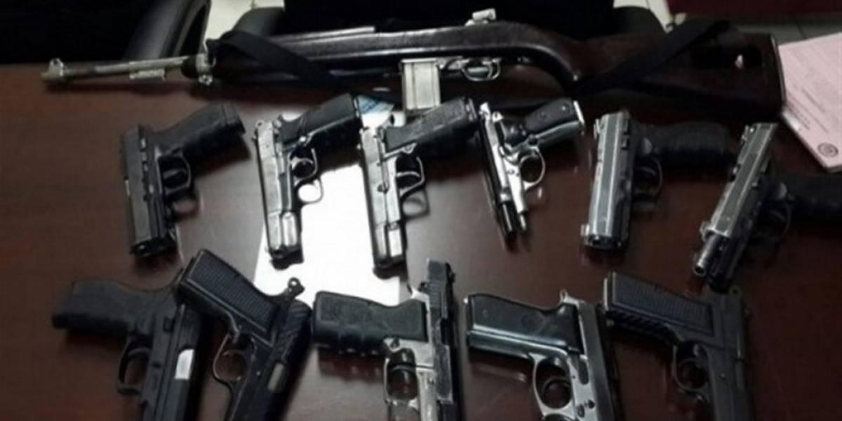 PN asegura ocupó en diciembre más de 260 armas de fuego