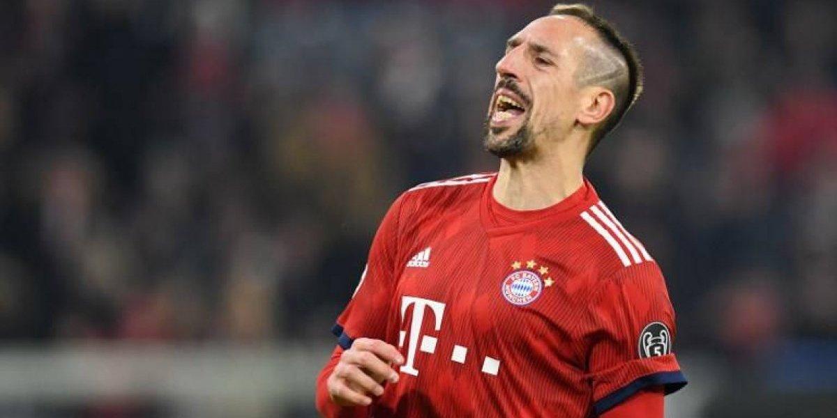 """""""Elevada multa"""" del Bayern a Ribery por insultos y excesos en las redes"""