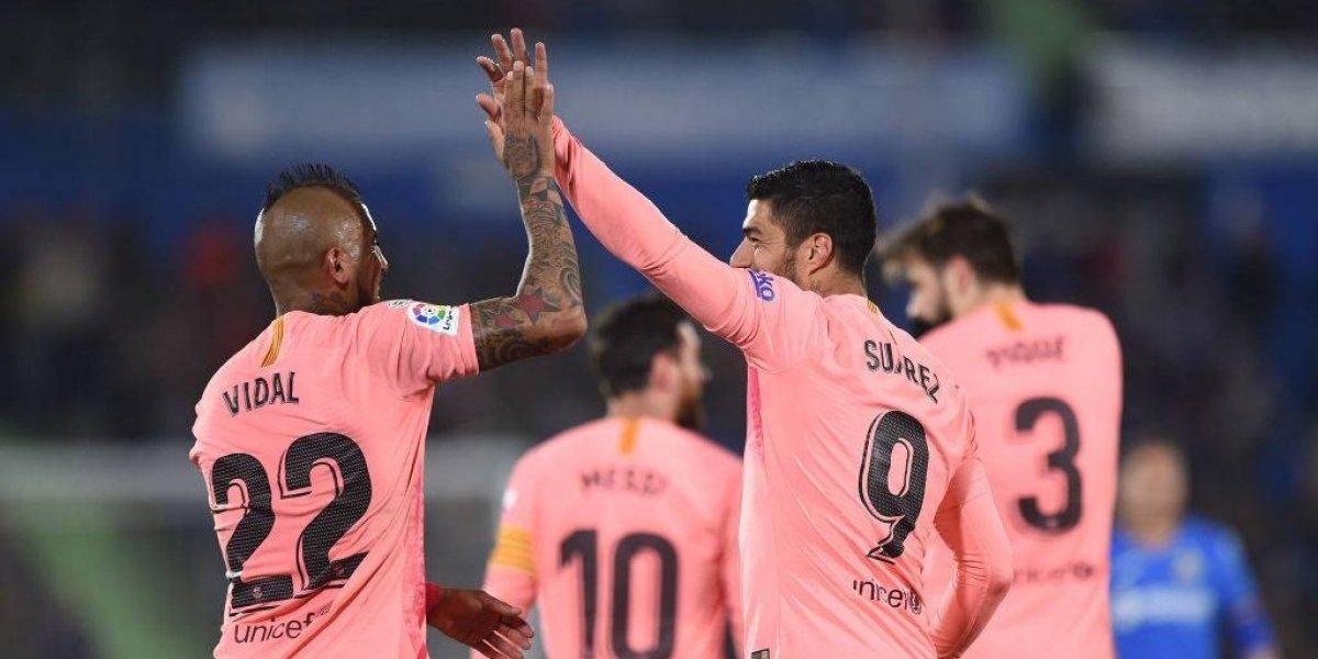 Arturo Vidal cumplió una correcta actuación en la victoria de FC Barcelona ante Getafe