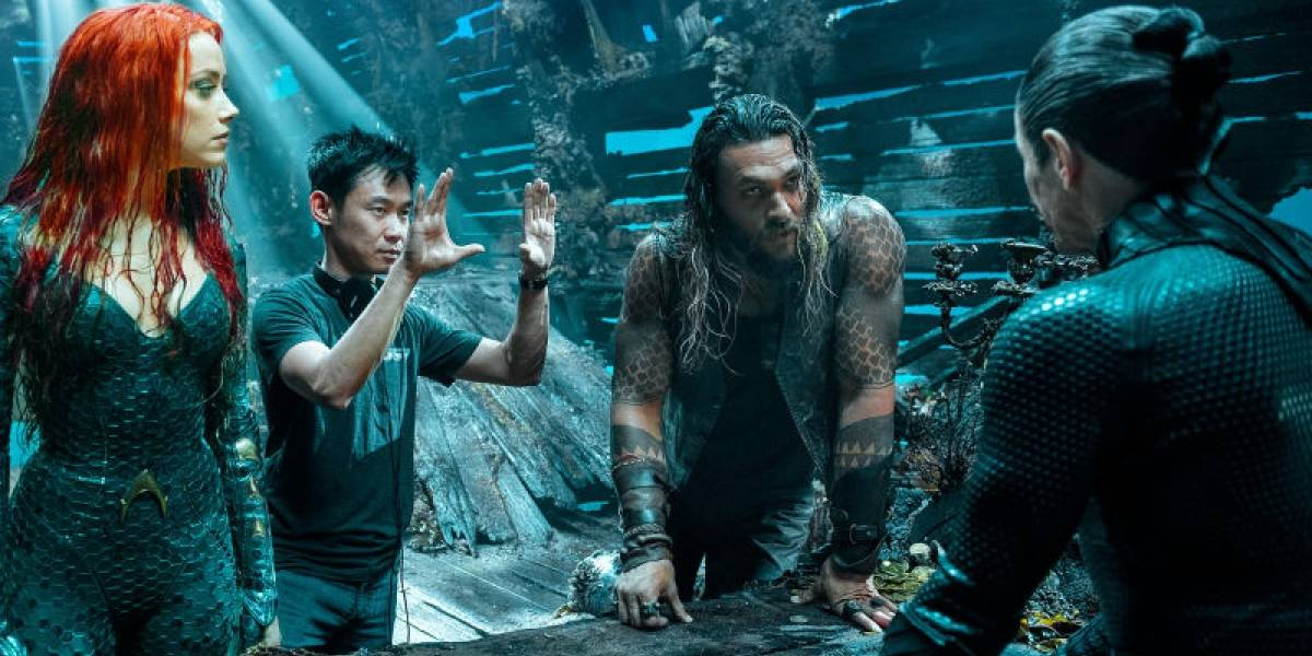 James Wan en el set de 'Aquaman'. Crédito: Warner Bros.
