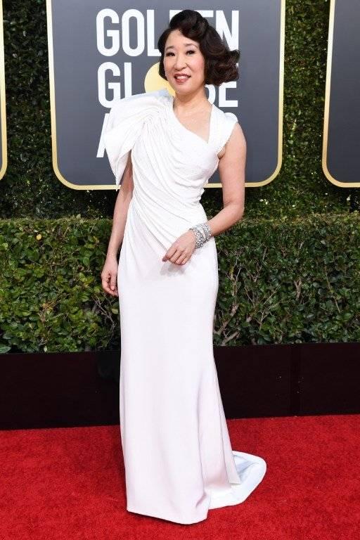 Sandra Oh, alfombra roja Golden Globes