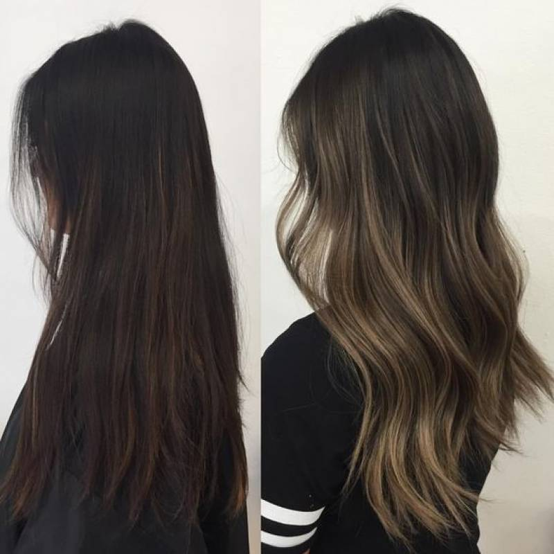 Mechas californianas cenizas