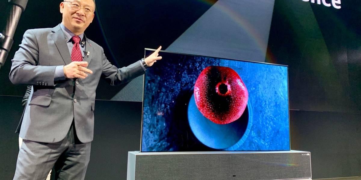 LG lanzó la primera pantalla enrollable del mundo