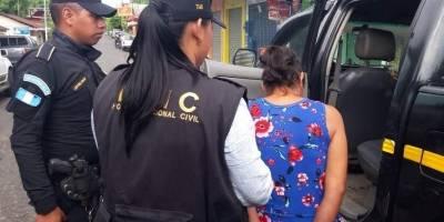 mujer capturada en Quetzaltenango por trata de personas