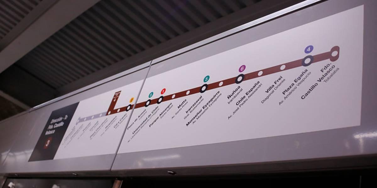 Línea 3: Desconocidos rayan vagones de Metro de Santiago que se inauguraría este mes