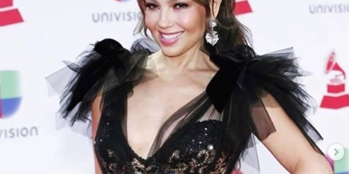 Thalía presume nuevo look en Instagram y sus fans la comparan con 'Marimar'