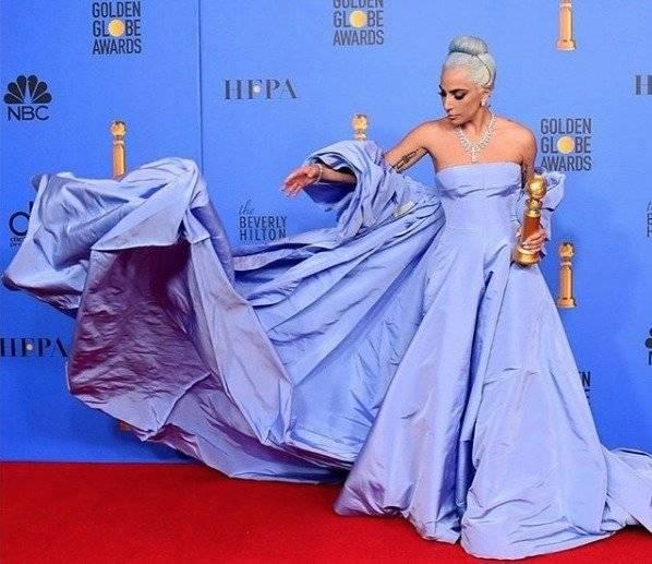 Lady Gaga: el secreto de su vestido en los Globos de Oro 2019 Instagram