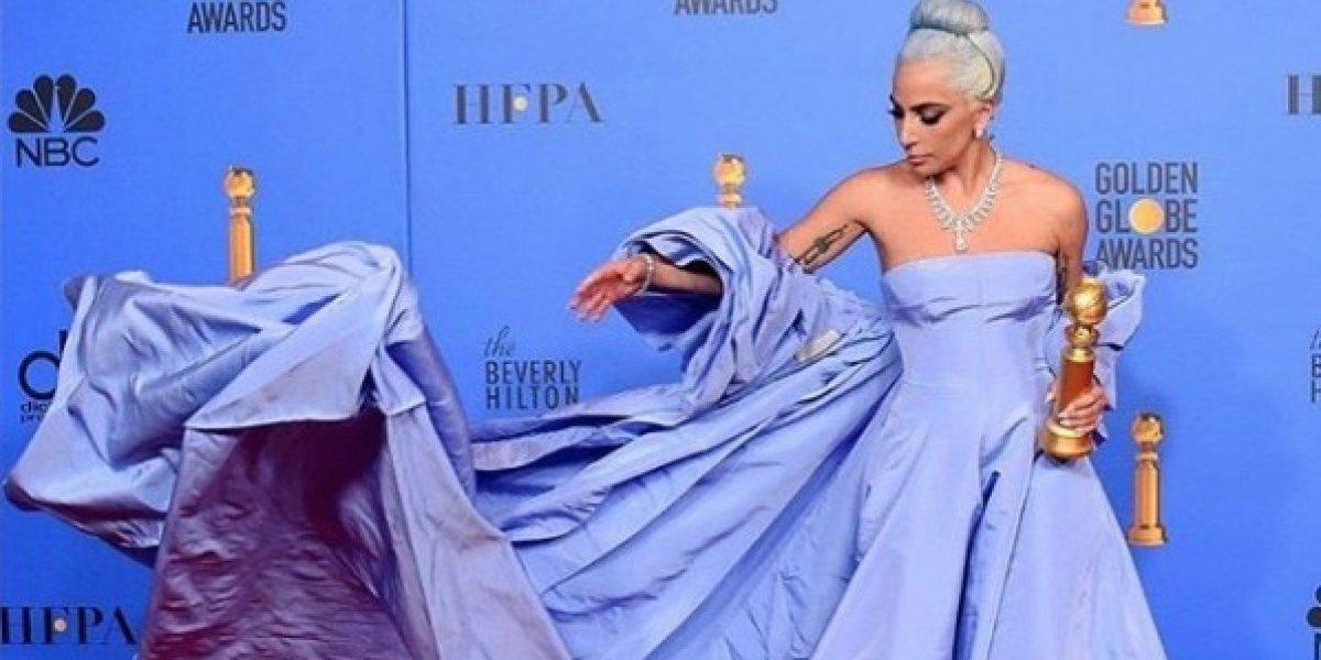 Lady Gaga: el secreto de su vestido en los Globos de Oro 2019