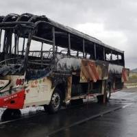 Bus de 'Reina del Camino' se encendió en en la vía Colisa – Jaramijó, Manabí