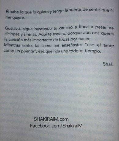 Shakira le dedicó un prólogo a Cerati Internet