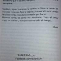 Shakira le dedicó un prólogo a Cerati