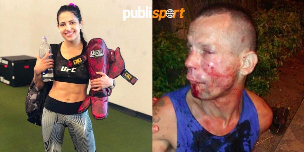 Peleadora de UFC golpea y somete a ladrón que intentó asaltarla
