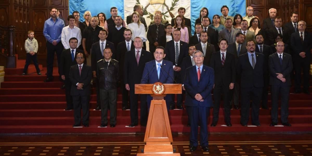 Presidente instruye a PGN y Cancillería para realizar quejas necesarias y que CICIG rinda cuentas