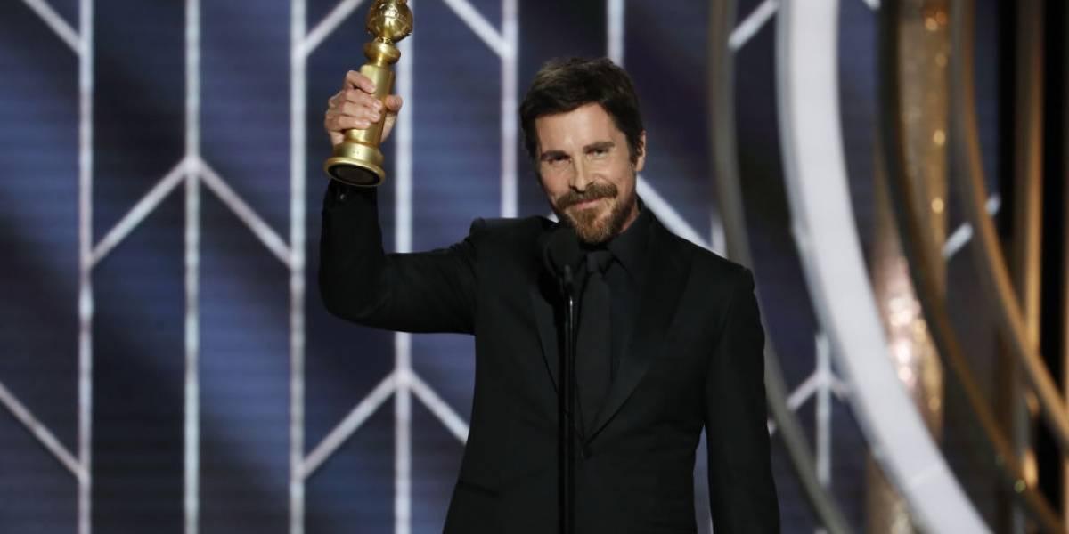 'Obrigado Satanás', diz Christian Bale ao vencer prêmio de Melhor Ator no Globo de Ouro 2019
