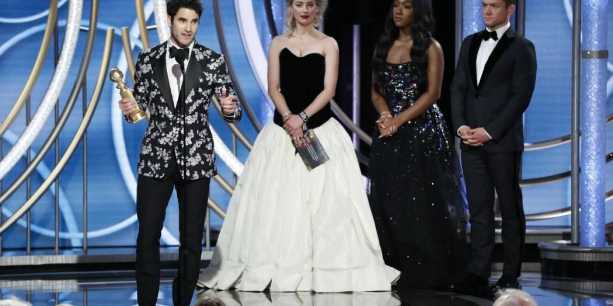 Globo de Ouro: Percebeu o fora de Amber Heard ao entregar prêmio a Darren Criss?