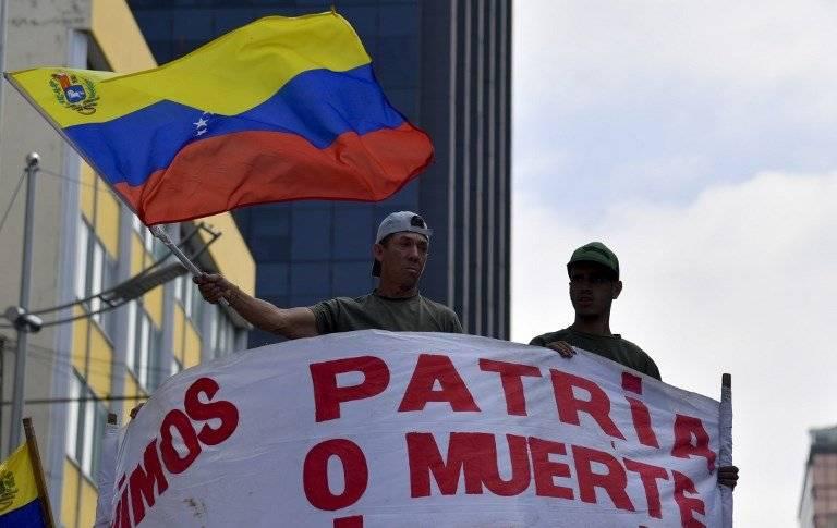 Chavistas defensores de Nicolás Maduro