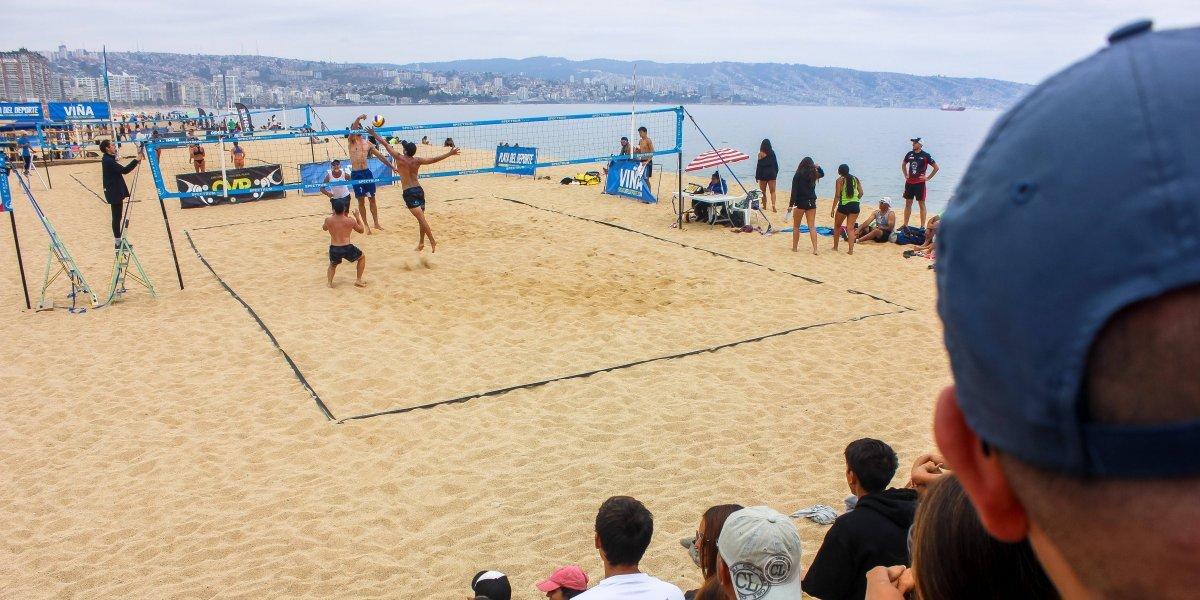 Viña gozó con el mejor voleibol playa del circuito CVP