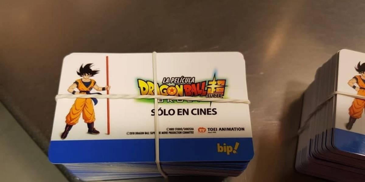 Para los regalones: Dragon Ball Súper: Broly ya tiene tarjetas Bip!