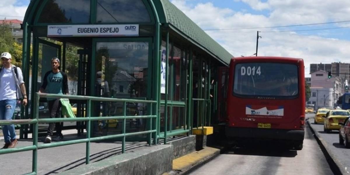 Quito: Parada Eugenio Espejo de la Ecovía no funcionará por repavimentación