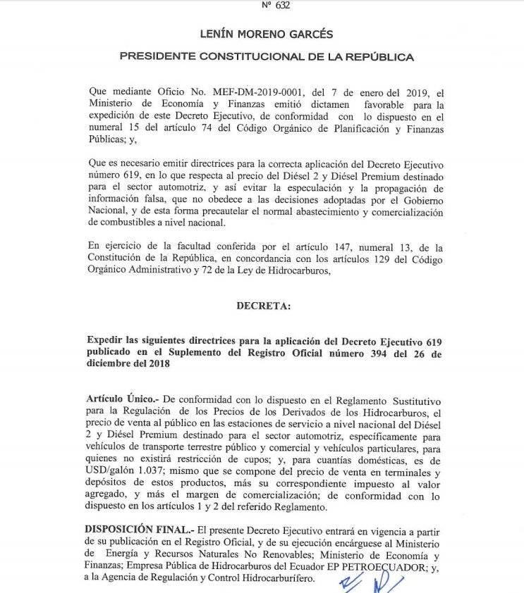 aclaratoria del Decreto 619