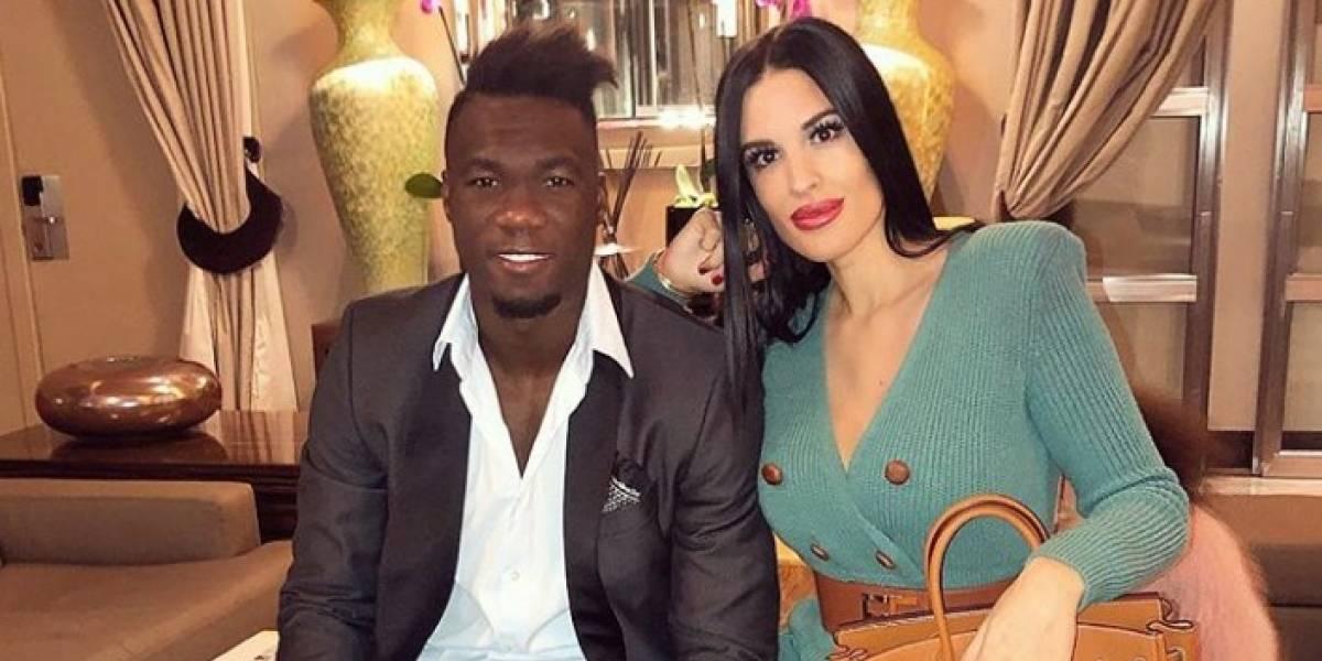 Fotos: Así lució Felipe Caicedo y su esposa, María García, para los 'Globe Soccer Awards'