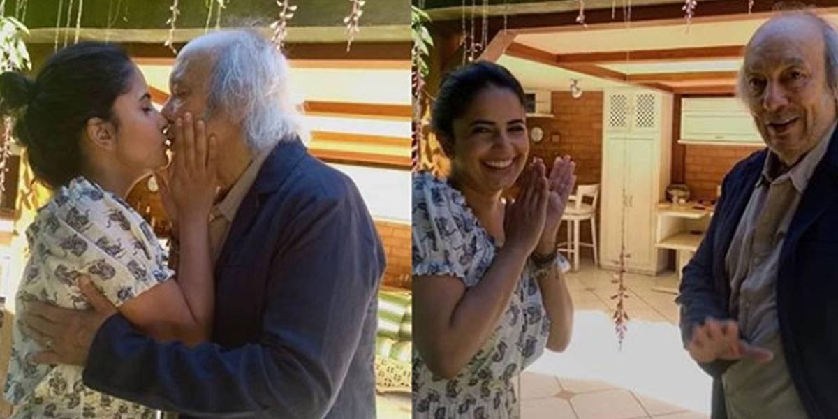 Erasmo Carlos se casa com pedagoga 49 anos mais jovem
