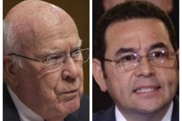 Patrick Leahy y Jimmy Morales