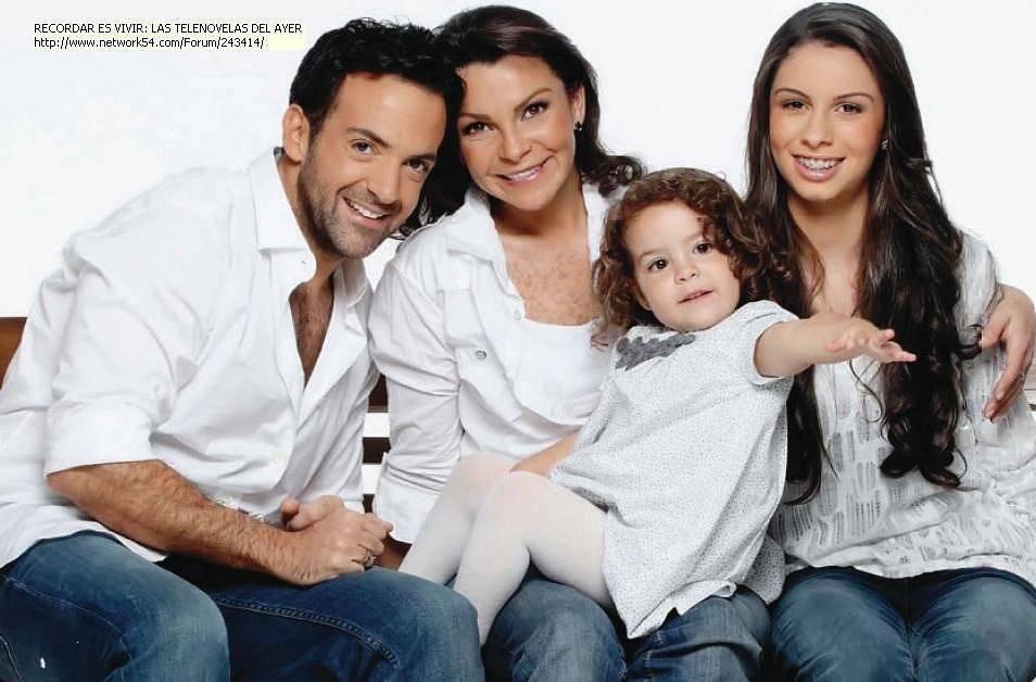 Mariana Garza y su familia
