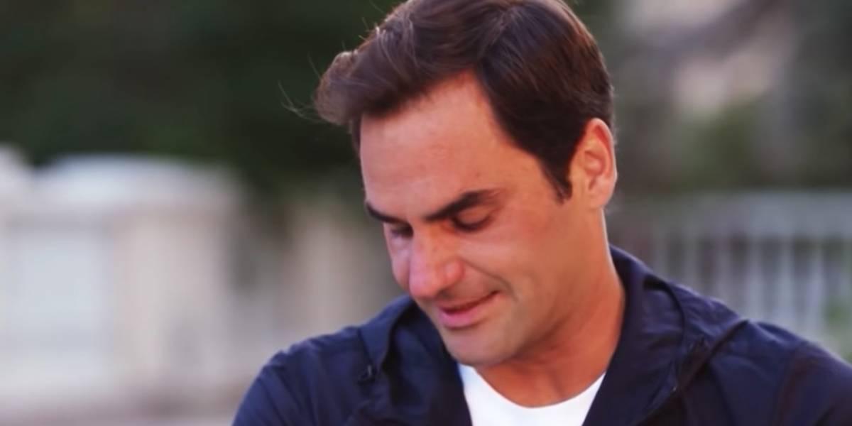 VIDEO: Federer rompe el llanto al recordar a su primer entrenador