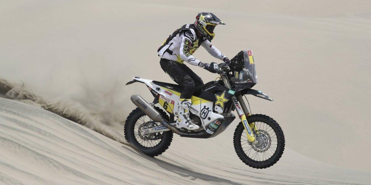 Paulo Gonçalves abandonó el rally Dakar por una fuerte caída