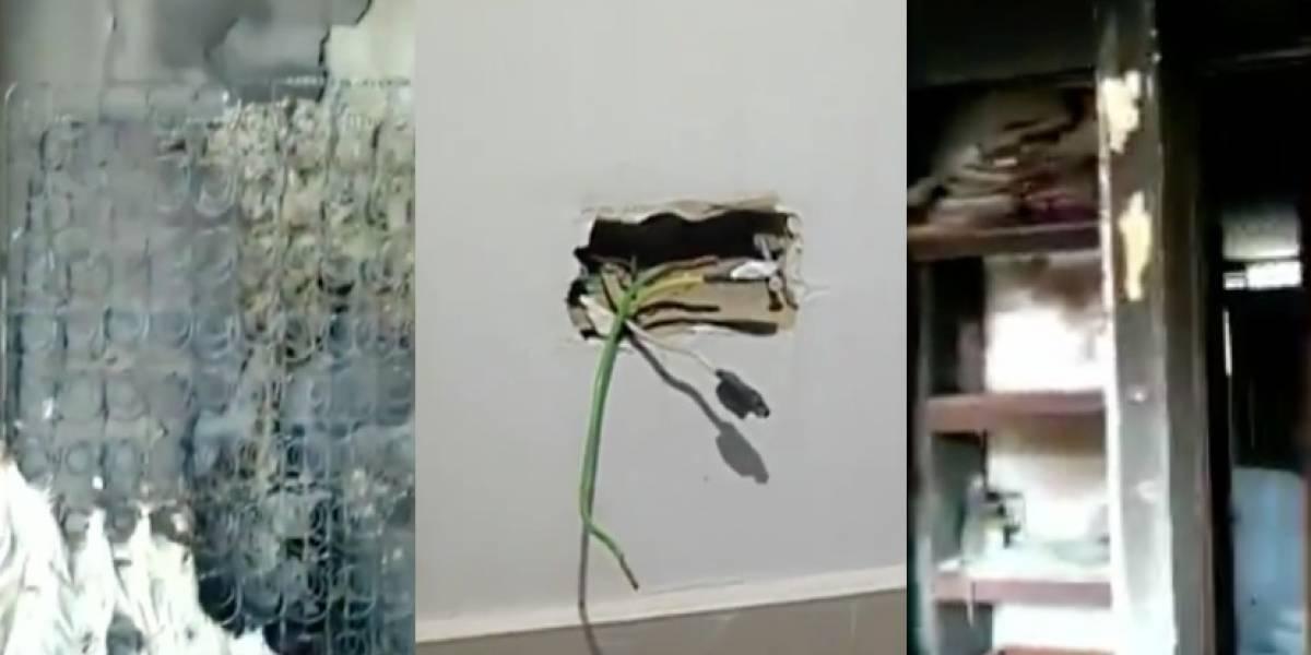 Familia sufre incendio en su casa por dejar un cargador de celular conectado