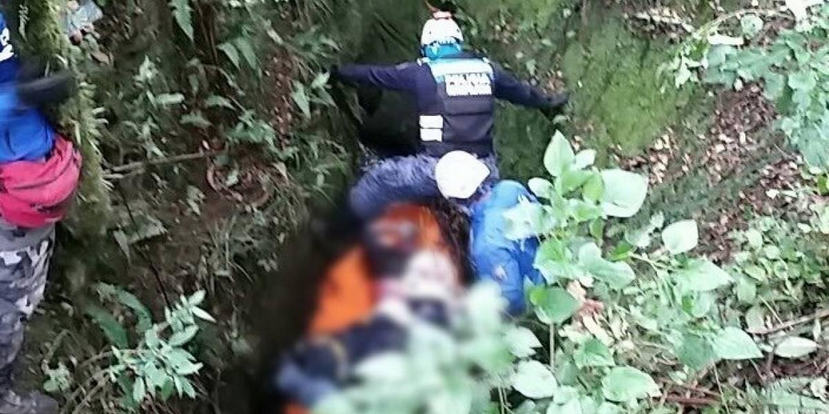 Hallan cuerpo de Héctor Córdova en una quebrada de Píntag