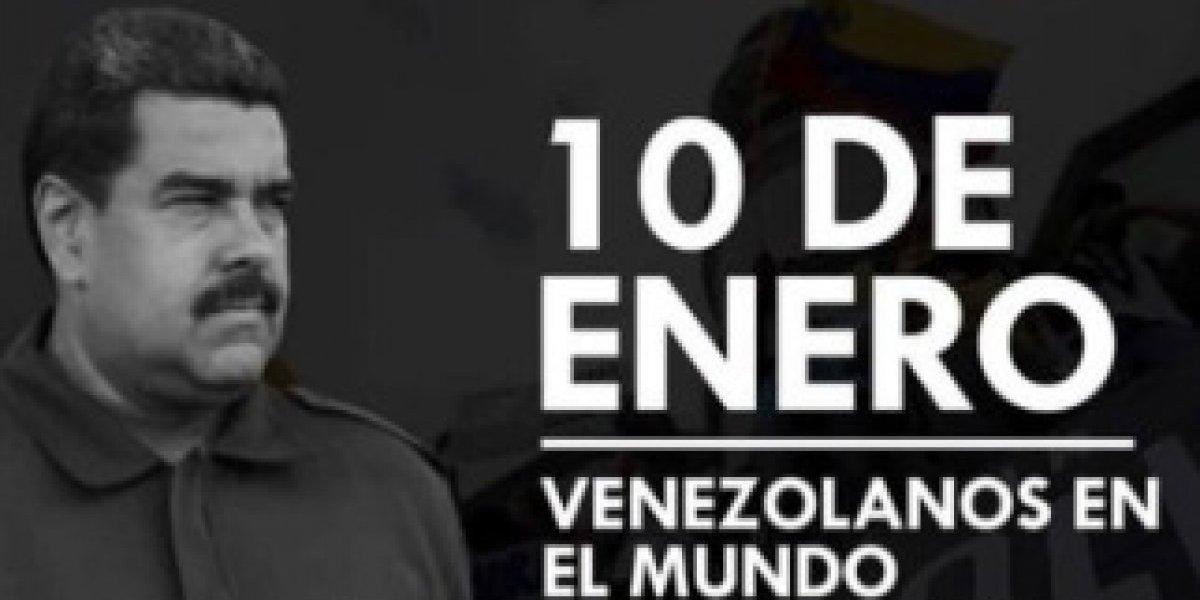 """Venezolanos protestarán desde Arica y Santiago contra el """"usurpador"""" Nicolás Maduro"""