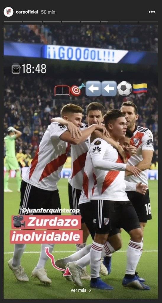 Recuerdo de Quintero a un mes de la Copa Libertadores 2018