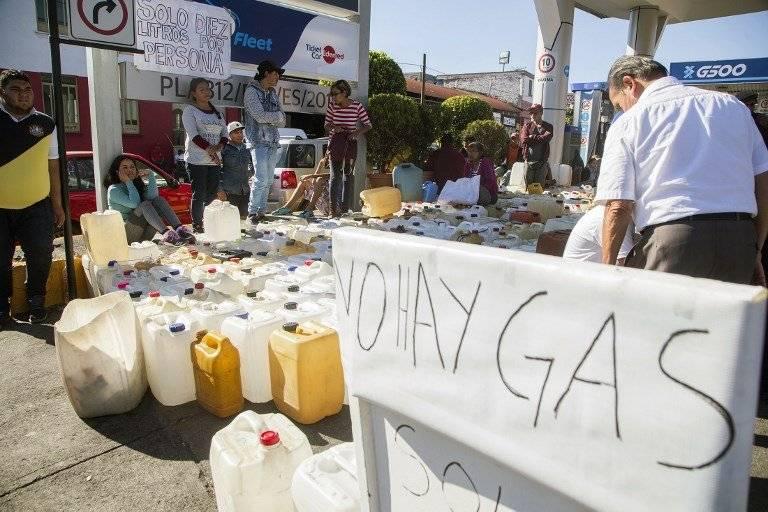 Escasez de gasolina en México