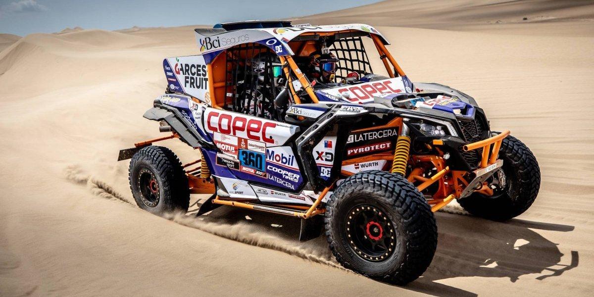 Otra buena para Chile: Chaleco López también responde y es líder con su buggy en el Dakar 2019