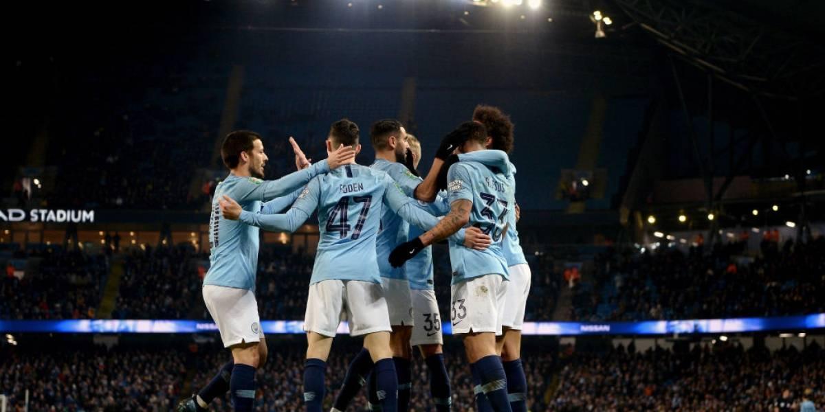 Manchester City trituró sin piedad al modesto Burton con nueve goles en la Copa de la Liga