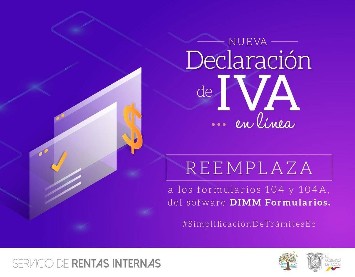 Declaración de IVA en línea